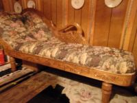 SWAN FAINTING COUCH. ANTIQUE REPLICA
