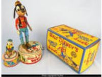 Donald Duck Duet Walt Disney Marx Toys 1946 mechanical Goofy