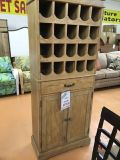 CLEARANCE CENTER ~ Tall Natural Wine Cabinet