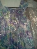 Little Girls Purple, Turquoise and White Flowery Dress Size 6X.