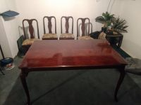 China cabinet with dinning table, four chairs