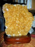 A Beautiful of Prosperity, Good Fortune and Luck Golden Gem Cluster Beautiful Large Citrine Gemstone