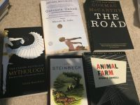 Various School books and Mythology book