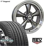 "Buy 17x7""-17x8"" GRAY REV CLASSIC 100 WHEELS & TIRES CHEVY S10 BLAZER 2wd 1982-2005 motorcycle in Spring, Texas, United States, for US $1,149.00"