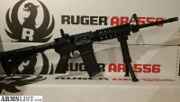 For Sale: Ruger AR 15 AR556 with Quad Rail Fore Grip Bi Pod AR15 Rifle 5.56 Nato *New Unfired*
