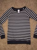 Gymboree striped top with a little bling on the collar Sz 10 12