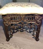 ANTIQUE foot stool/rested 1910 s SOLID IRON CAST