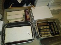 3 Rubbermaid Totes of Baseball Football Basketball cards for cheap (Baton Rouge)