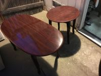 Cherrywood coffee table and side table