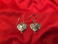Rand New Heart Praying Hands Silver Earrings. Great For Valentine s Day