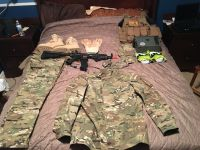 Airsoft Gun And complete set up