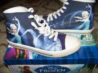 Disney Frozen high top sneaker size 6 blue multi