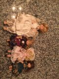 Lot of old glass dolls