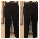 Size 4 black jeggings-real back pockets, thick like jeans, but stretchy. Faded Glory brand. EUC