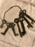 Authentic Antique Keys ~ NOT REPRODUCTIONS: LOT of SEVEN for Necklaces ~ Charms ~ Crafts ~ Jewelry ~ More