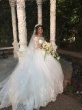 Abigail's Long Sleeve Luxury Sweetheart Wedding Dress With 1.5 Foot Train