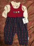 Healthtex 2 pc girls outfit size 6-9 months new