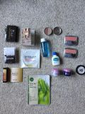 14 pc make-up, skin care and perfume lot, full sized and samples, asking $10