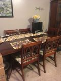 Dining table, 6chairs and China cabinet. Over 60 yrs old