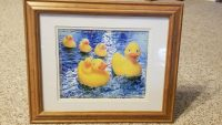 Framed & Matted Duck Picture - Life is just ducky