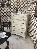 White Chest solid wood