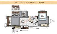 2017 Forest River Flagstaff Classic Super Lite 8320KBS