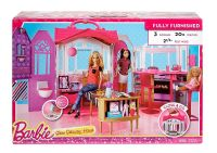 Brand new in box Barbie Glam Getaway house it folds up!