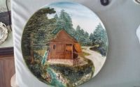 Cabin in Woods Decorative Plate