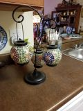Pier One imports mosaic lanters. Candles not included.