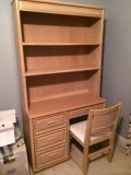 $100, Great Desk with Bookcase and Chair