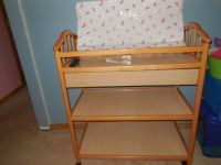 Changing Table with drawer, pad & sheets