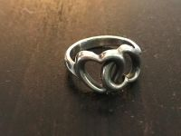 James Avery, Linked Hearts Ring, size 7 1/2