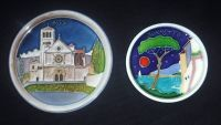2 Vtg Creazioni Luciano Wall Art Plaque Assisi & Sorrento Italy Coast