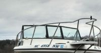 Purchase COMPLE GLASS WINDSHIELD FROM 1991 SPORT CRAFT FISHMASTER 27' PARTING OUT BOAT motorcycle in Faribault, Minnesota, United States, for US $699.99