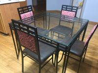 Dinning table set with 4 chairs