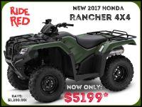 2017 Honda FourTrax Rancher 4x4 Utility ATVs Erie, PA