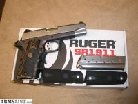 For Sale: REDUCED: SR1911 RUGER LIGHTWEIGHT 9MM WITH EXTRAS