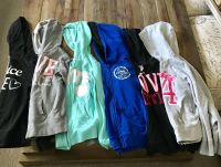 6 Girls justice hoodies size 8 and 10