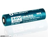 For Sale: Olight 3600mAh 18650 High Capacity Protected Rechargeable Battery ORB-186P36