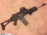 For Sale/Trade: SEMI-AUTO STAINLESS RUGER RIFLE G36 BUILD FOLDING STOCK / OPTIC / AFG