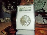 Exceptional a Very Rare 1925-P Stone Mountain Silver Commemorative Half Dollar M