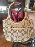 Authentic Coach Purse 13 x 9 Excellent Condition! Like New except for a couple tiny marks inside... see pics