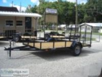 NEW quot quot Utility Trailer X Ramp Gate All Square Tub