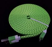 10ft Green Android charging cords