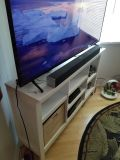 White TV Consol with Adjustable Shelves