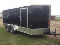2017 Wells Cargo 7x16 Black Utility Cargo Trailer $1500