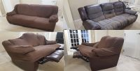 Three seater sofa with reclining end seats
