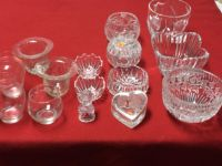 Crystal and cut glass items