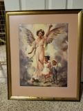 "Beautiful ""GOD 's CHILDREN "" Framed/Matted Print"