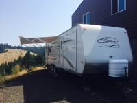 Spree kz travel trailer toy hauler 09
